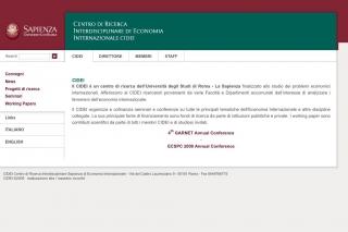"""Università di Roma – La Sapienza – """"CIDEI"""""""