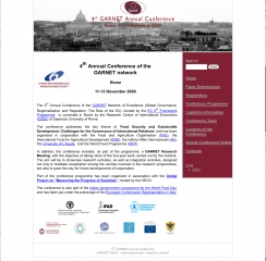 4th Annual Conference of the GARNET network